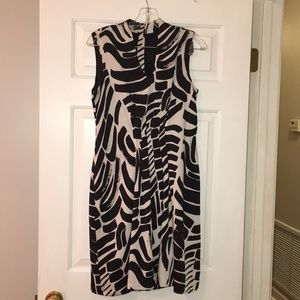 Kenneth Cole Black and White fully lined dress.